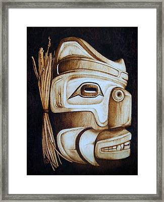 Haida Mask Framed Print by Cynthia Adams