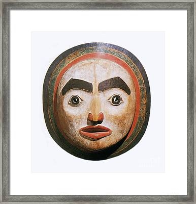 Haida Moon Mask Framed Print by Photo Researchers