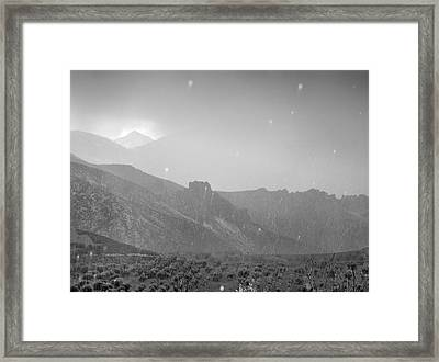 Hail Storm In The Mountains Framed Print by Guido Montanes Castillo