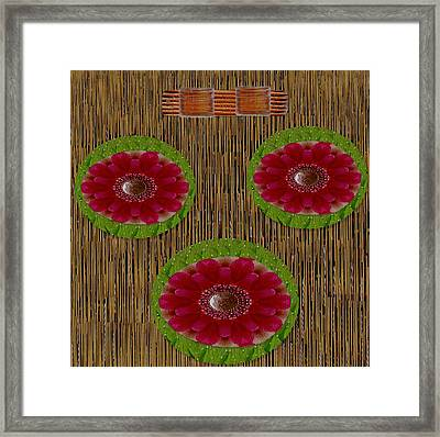Hail To The Jewel Of The Lotus Framed Print by Pepita Selles