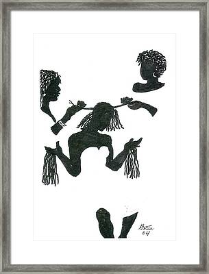 Hair Braiding Framed Print by Rhetta Hughes