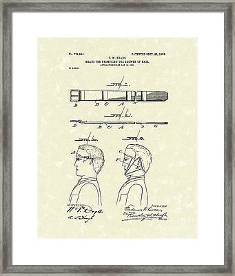Hair Growth System 1903 Patent Art Framed Print
