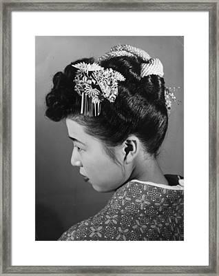 Hair Ornament Framed Print by Central Press