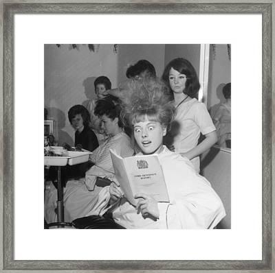 Hair-raising Report Framed Print by George Freston