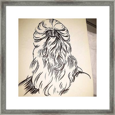 #hair #sketch Framed Print