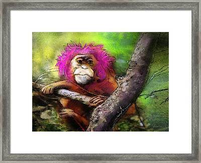 Hairs To You Framed Print by Miki De Goodaboom