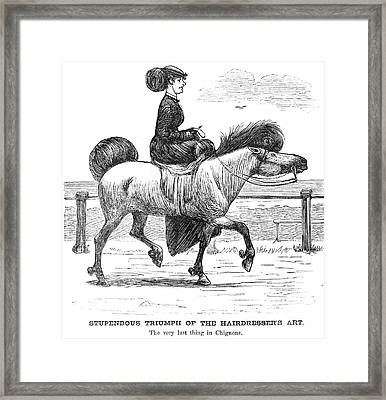 Hairstyle, C1865 Framed Print by Granger