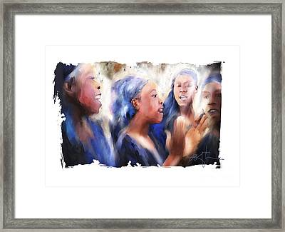 Haitian Chorus Singers Framed Print