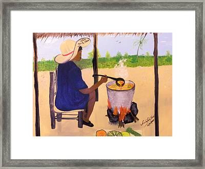 Haitian Pumpkin Soup Framed Print by Nicole Jean-Louis