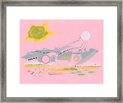 Halcyon Pink Framed Print by Ralf Schulze