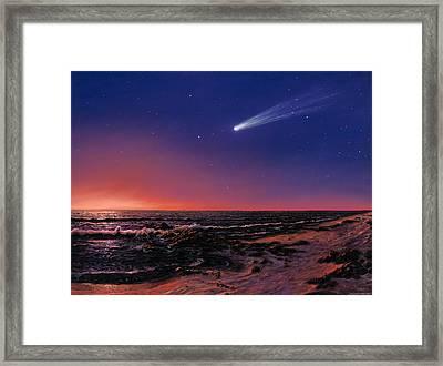 Hale-bopp Comet Framed Print by Chris Butler