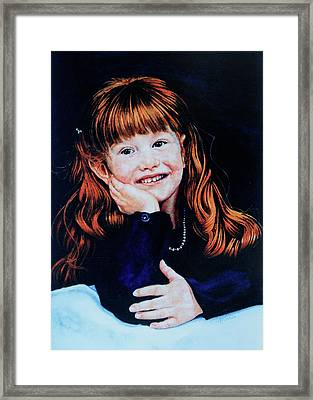 Haley Framed Print by Hanne Lore Koehler
