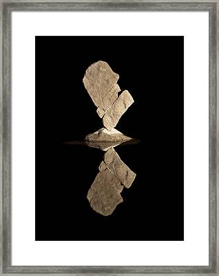 Half A Heart  Framed Print by Arlyn Petrie