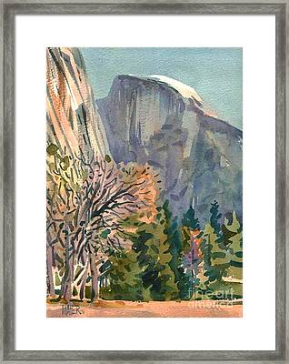 Half Dome Framed Print by Donald Maier