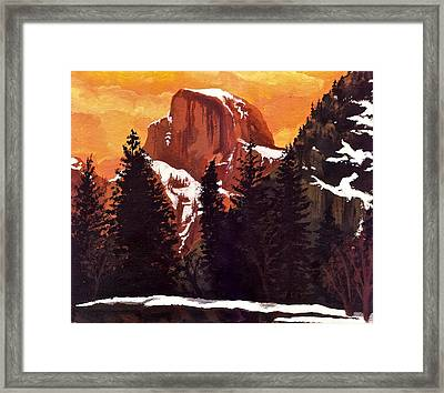 Half Dome Sunset Framed Print by Sara Coolidge