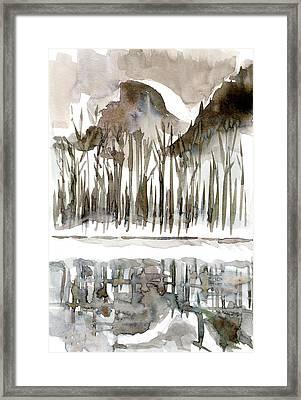 Half Dome Winter Framed Print by Carol A Marcus