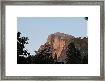Half Dome Yosemite National Park Framed Print by Remegio Onia