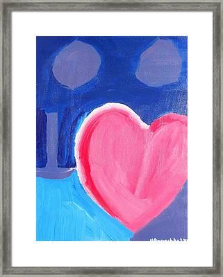 Half Hearted Framed Print
