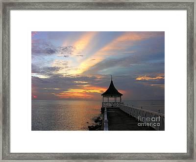 Half Moon Sunset  Framed Print by Anne Gordon