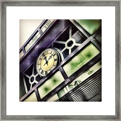 Half Time Framed Print