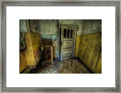 Half Yellow Framed Print by Nathan Wright