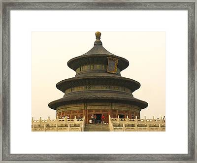 Hall Of Prayer For Good Harvests Framed Print by Richard Nowitz