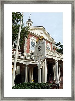Hall Of Presidents Exterior Walt Disney World Prints Framed Print