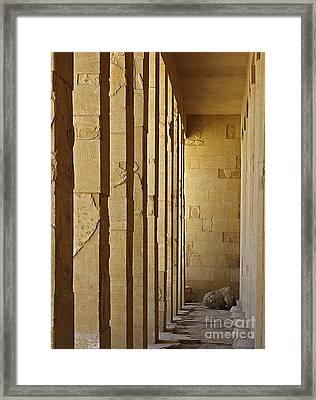 Hall Of The Pharaoh Framed Print by Mary Machare