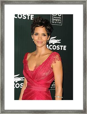 Halle Berry At Arrivals For 13th Annual Framed Print