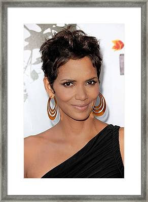 Halle Berry At Arrivals For 2011 Annual Framed Print