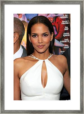 Halle Berry At Arrivals For Lackawanna Framed Print