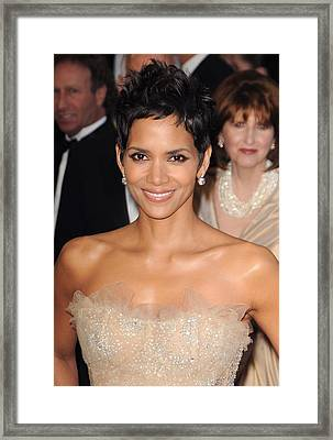 Halle Berry At Arrivals For The 83rd Framed Print