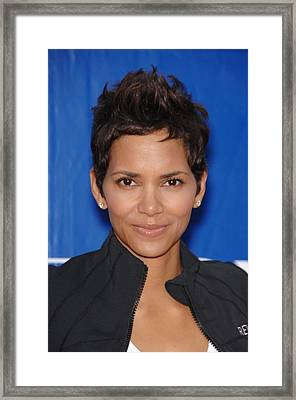 Halle Berry In Attendance For 18th Framed Print