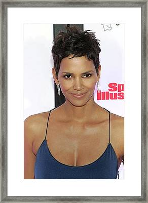 Halle Berry In Attendance For Muhammad Framed Print