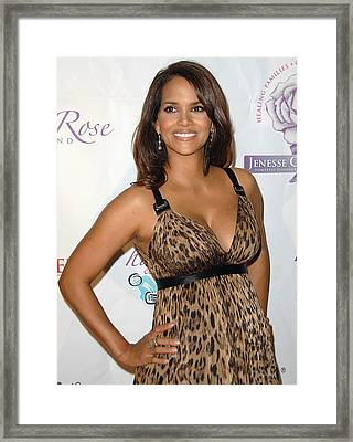 Halle Berry Wearing A Dolce & Gabbana Framed Print by Everett