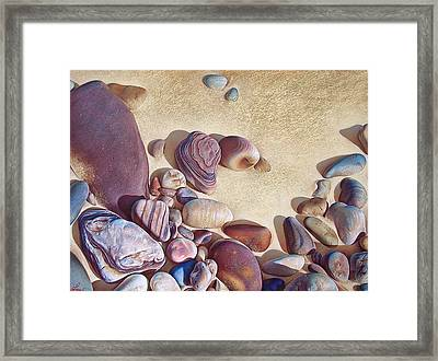 Hallett Cove's Stones Framed Print