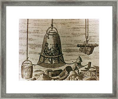 Halleys Diving Bell, 1690 Framed Print by Granger