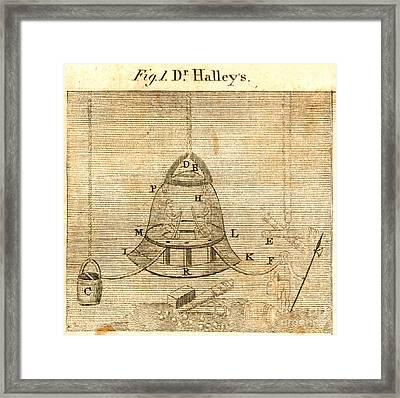 Halleys Diving Bell, 1701 Framed Print by Granger