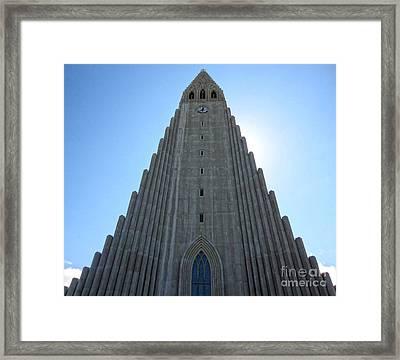 Hallgrimskirkja - Church Reykjavik Iceland  Framed Print by Gregory Dyer