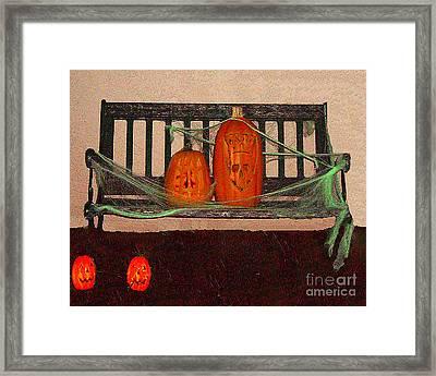 Halloween Decoration Framed Print by Merton Allen