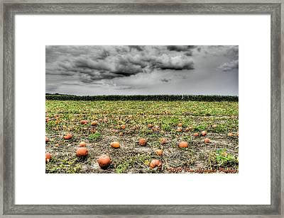 Halloween On Johnson's Corner Farm Framed Print by Timothy Hedges
