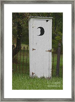 Halloween Outhouse Framed Print by Marilyn West
