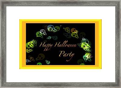 Halloween Party Framed Print by Debra     Vatalaro