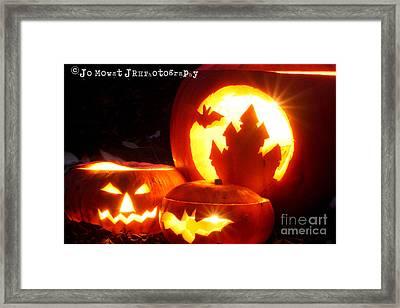 Halloween Pumpkins Framed Print by Jo