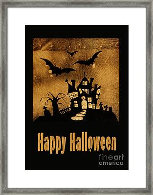 Halloween Quilt Top Framed Print