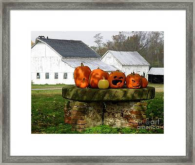 Framed Print featuring the photograph Halloween Scene by Lainie Wrightson