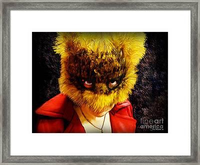 Halloween Self Portrait Framed Print by Joan  Minchak
