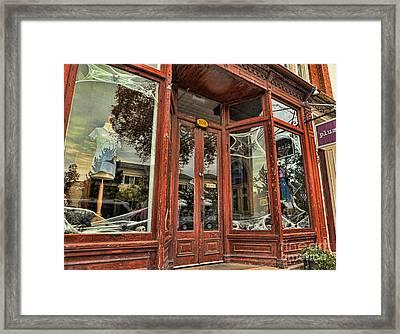 Halloween Storefront - Shepherdstown Wv Framed Print