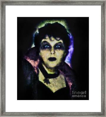 Halloween Vampire Look Framed Print by Alexandra Jordankova