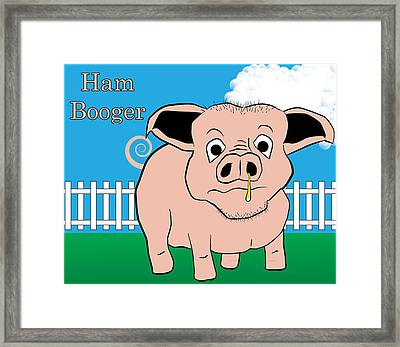 Framed Print featuring the digital art Ham Booger by John Crothers